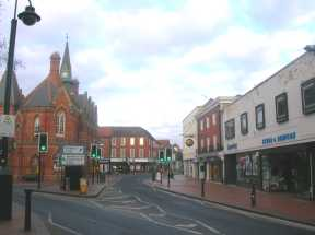 Market Place and Broad Street from Cockpit Path